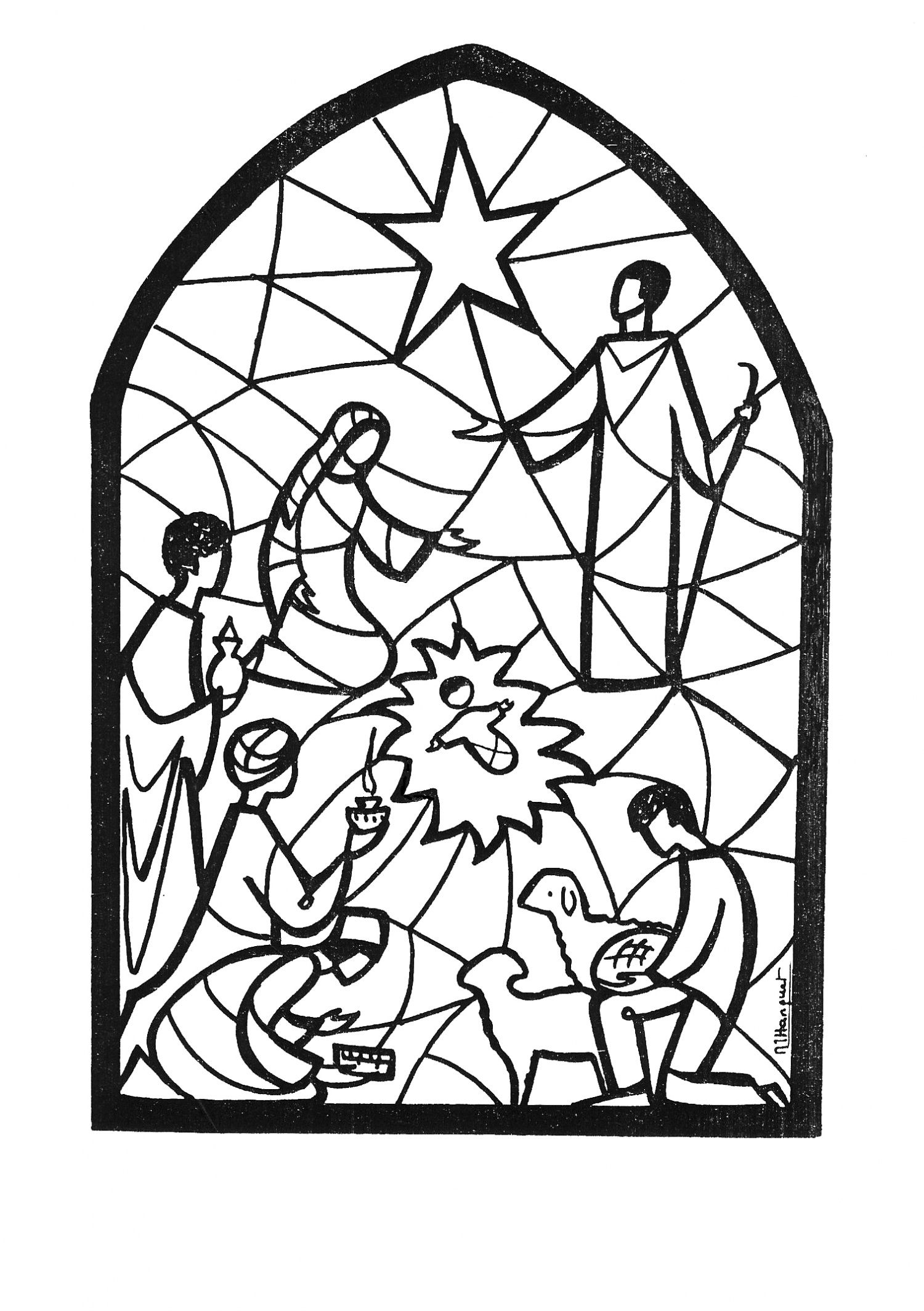Schöne Vorlage Zum Ausmalen Oder Für Ein Adventsfenster über Kirchenfenster Malvorlage