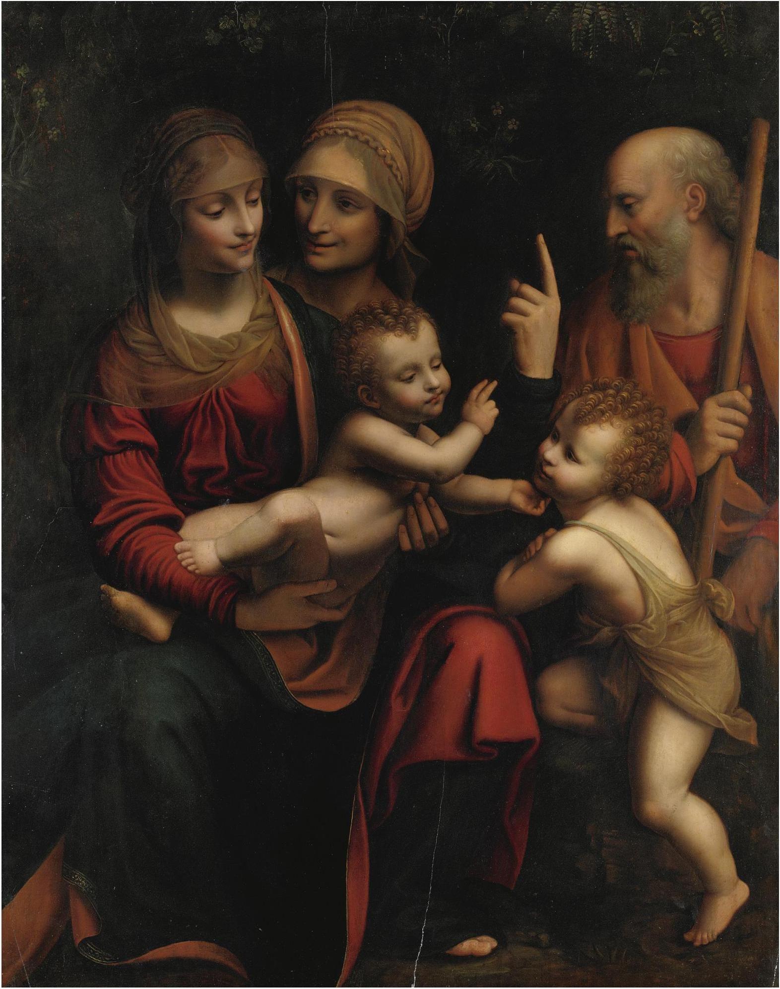 School Of Bernardino Luini. Holy Family After Leonardo Da für Leonardo Da Vinci Familie