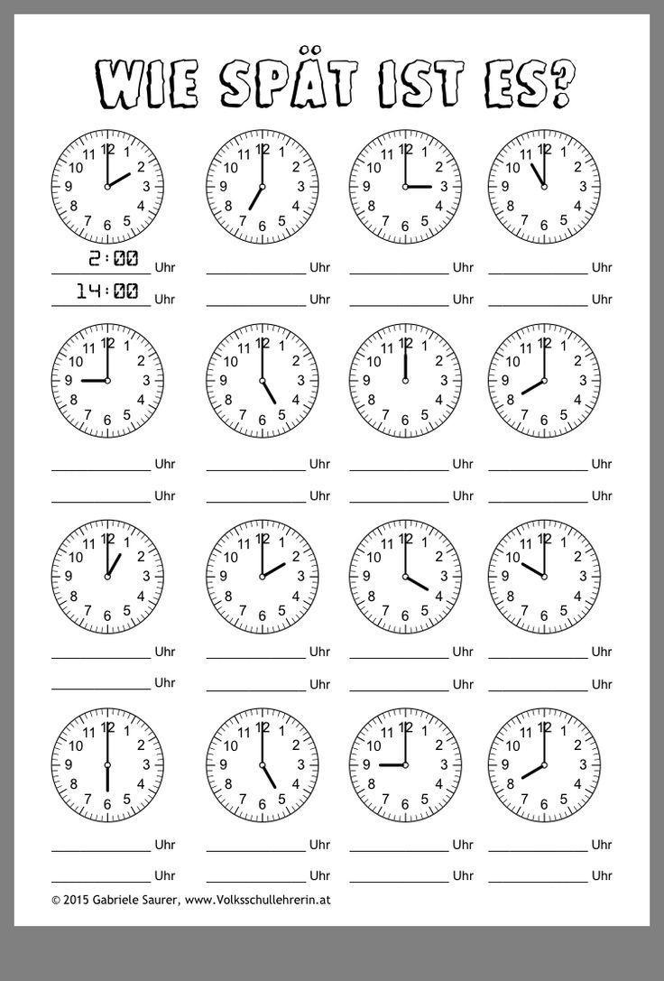 Schreiben Lernen 1. Klasse In 2020 (Mit Bildern) | Uhrzeit innen Uhrzeit Lernen 2 Klasse