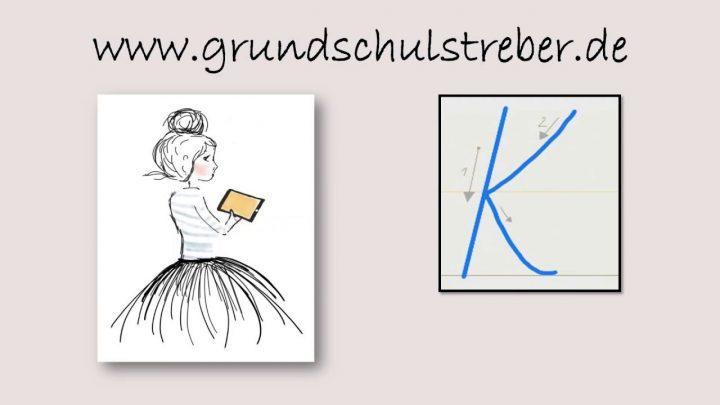 "Schreibschrift ""k"" ganzes K Schreibschrift"