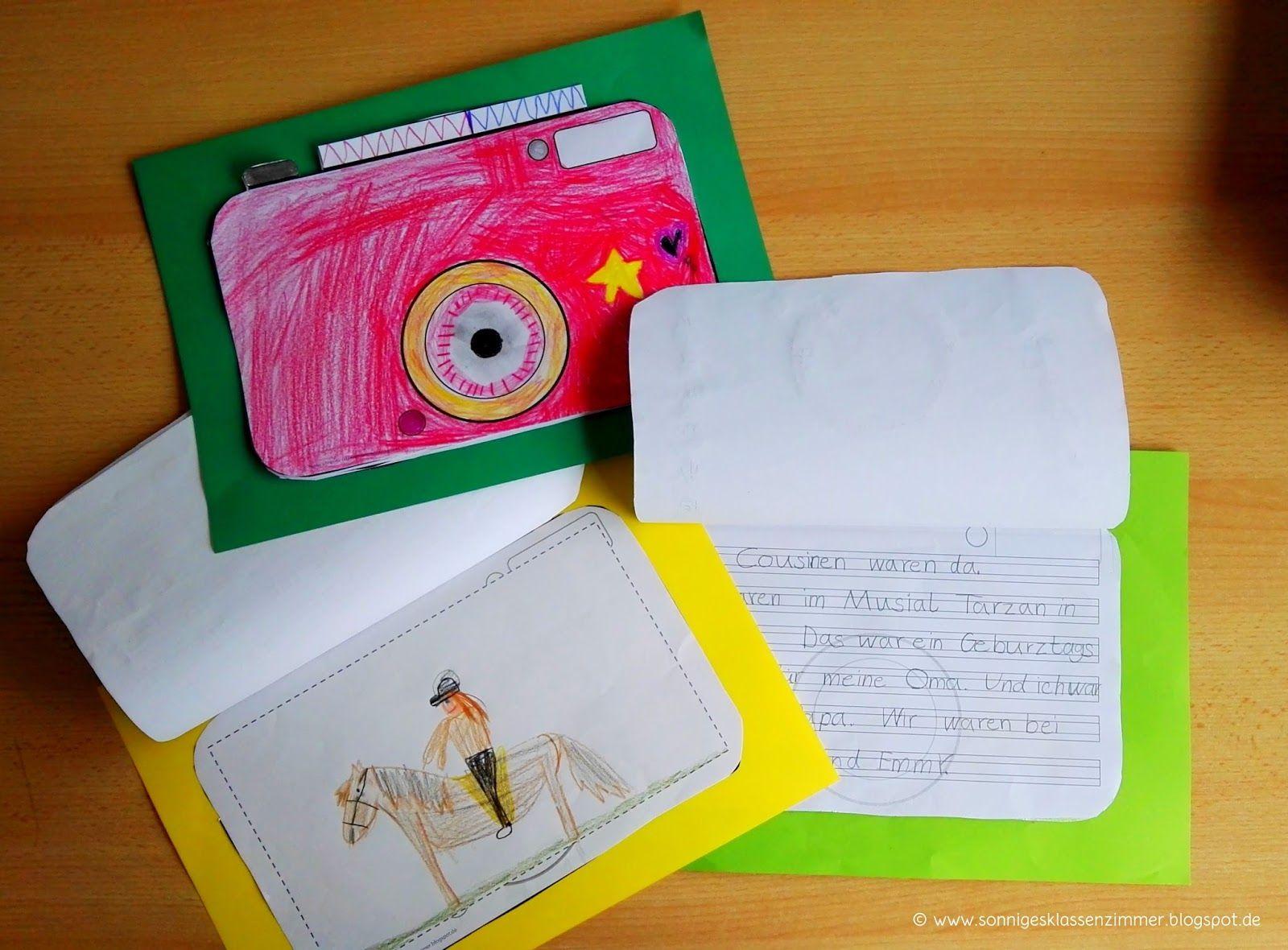 Schreibvorlagen Für Ferienberichte (Mit Bildern für Ferienerlebnisse Schreiben Grundschule