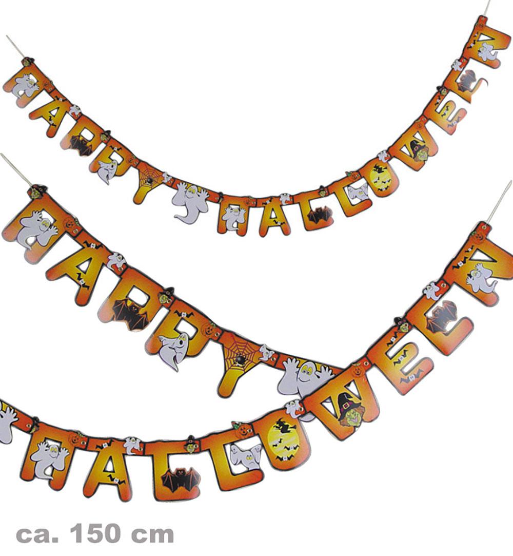 Schriftzug-Girlande Happy Halloween Deko Artikel für Happy Halloween Schriftzug