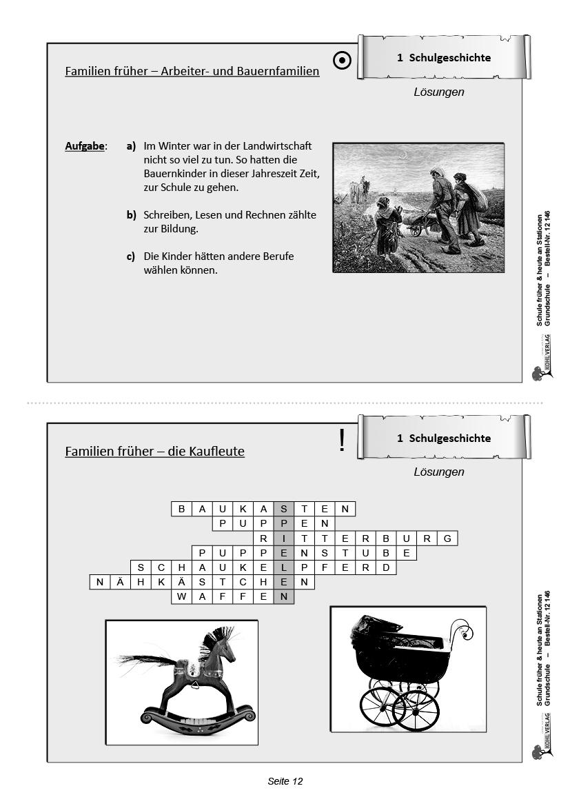 Schule Früher & Heute An Stationen - Selbstständiges Lernen bestimmt für Schule Früher Und Heute Arbeitsblätter