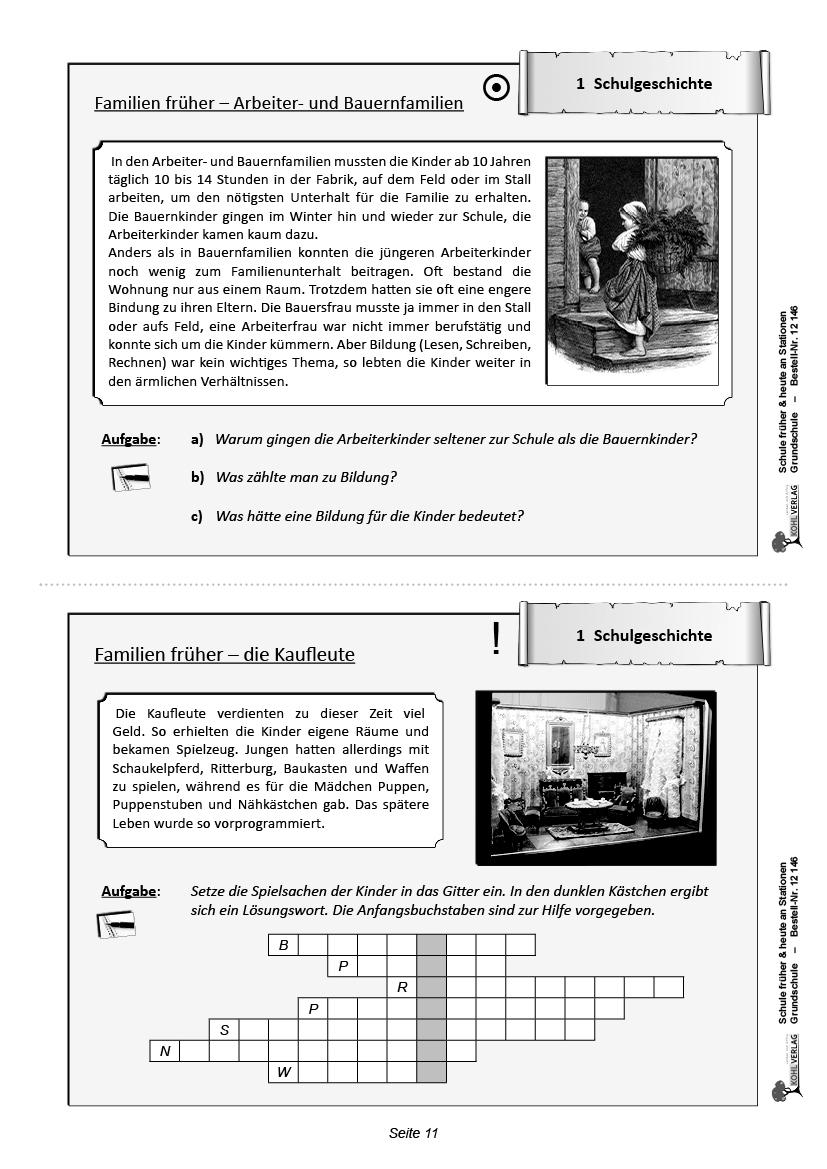 Schule Früher Und Heute Arbeitsblätter - kinderbilder