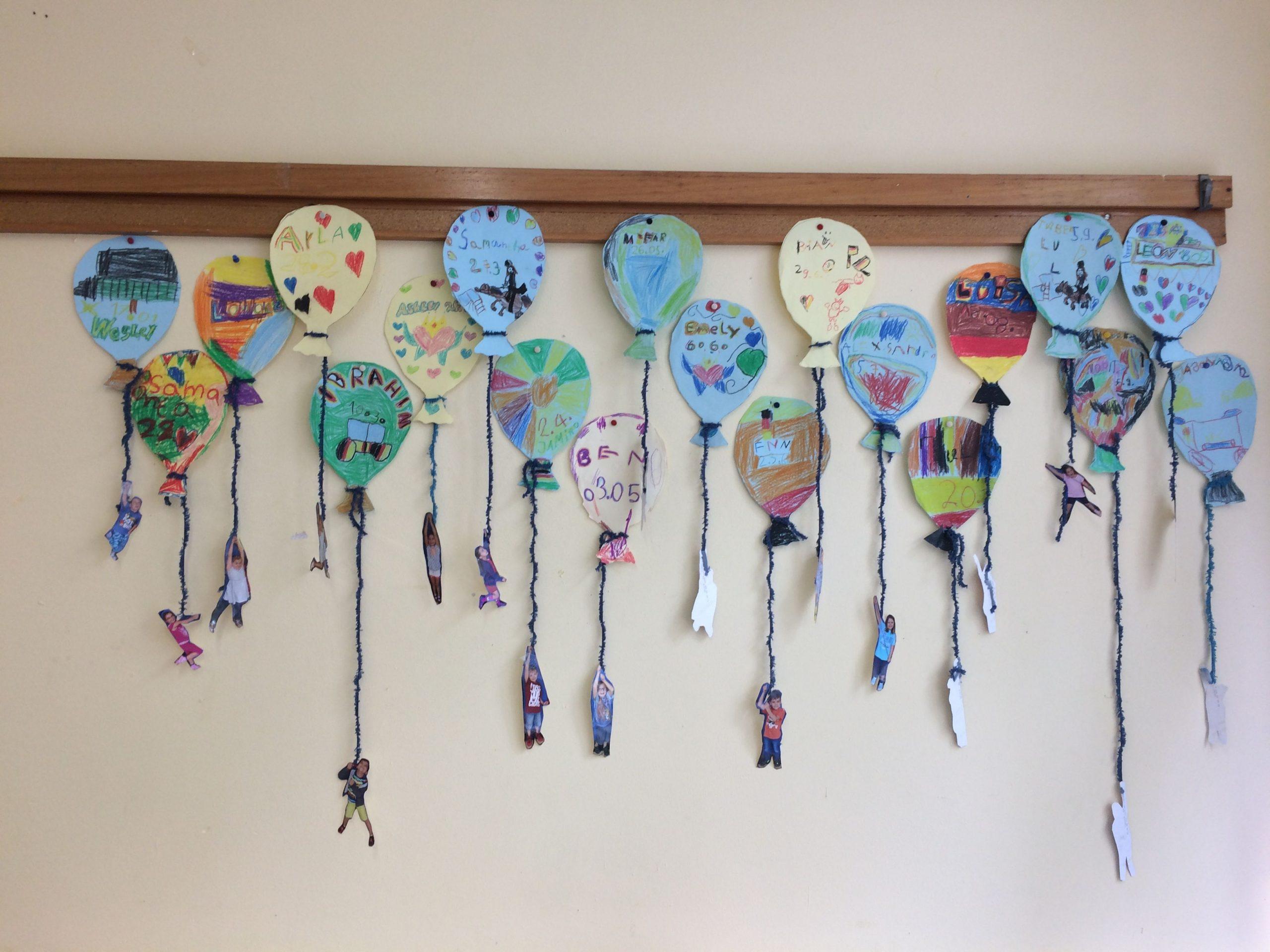 Schule - Geburtstagskalender - Ballons - Foto für Geburtstagskalender Zum Selber Basteln