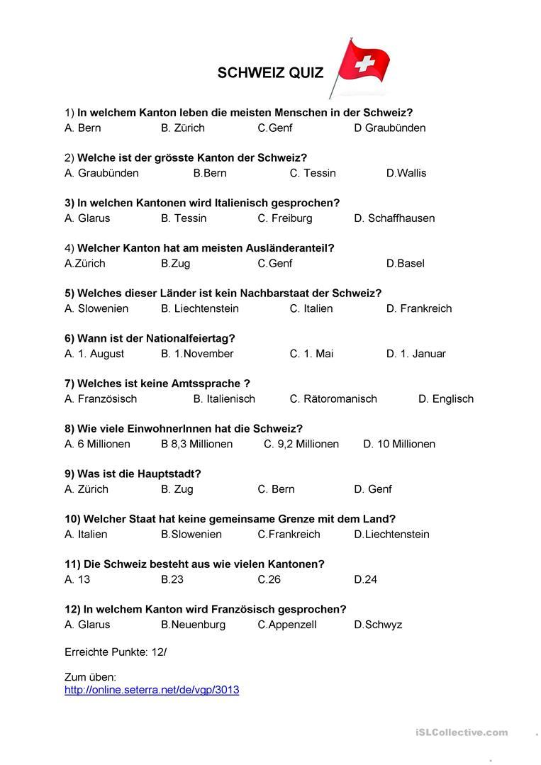 Quiz Fragen Antworten Allgemeinwissen