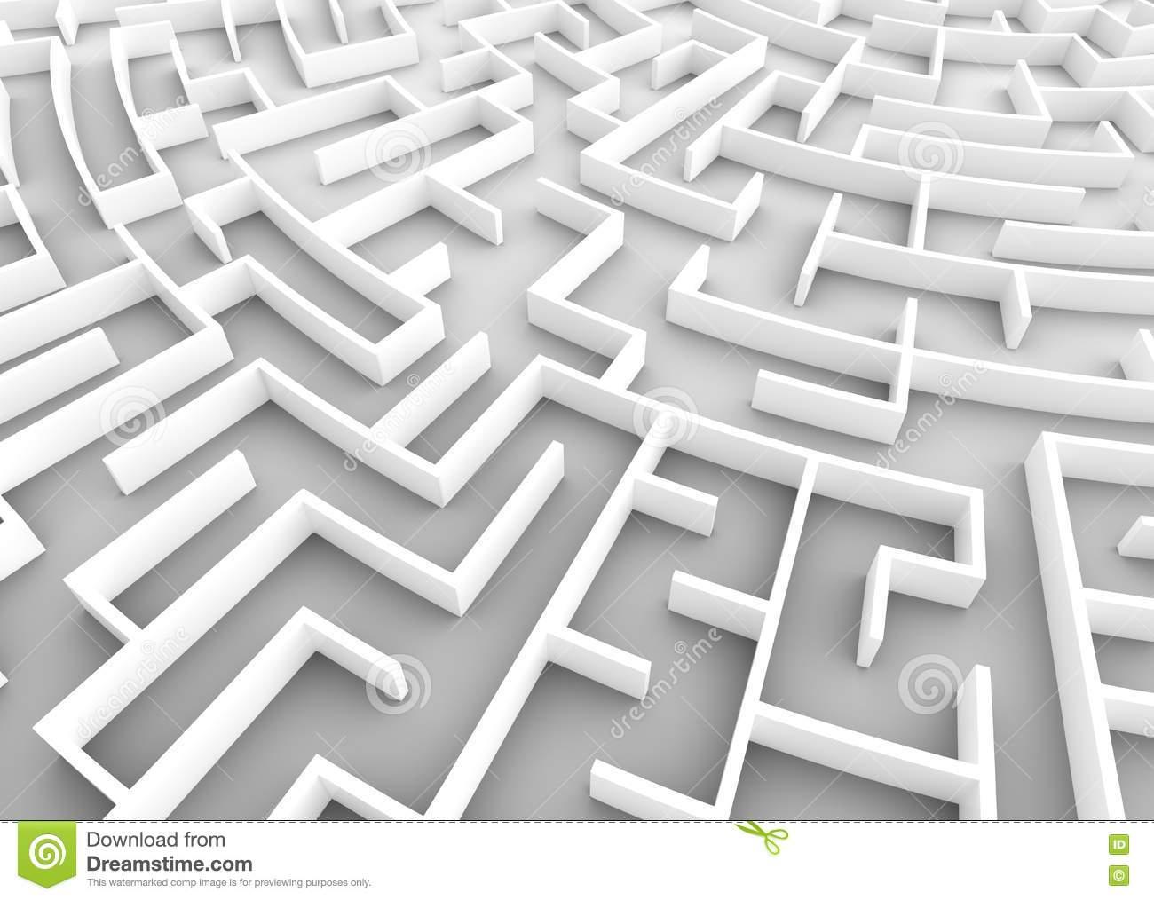 Sehr Großes Labyrinth Geschäftsstrategiekonzepte ganzes Labyrinth Lösen