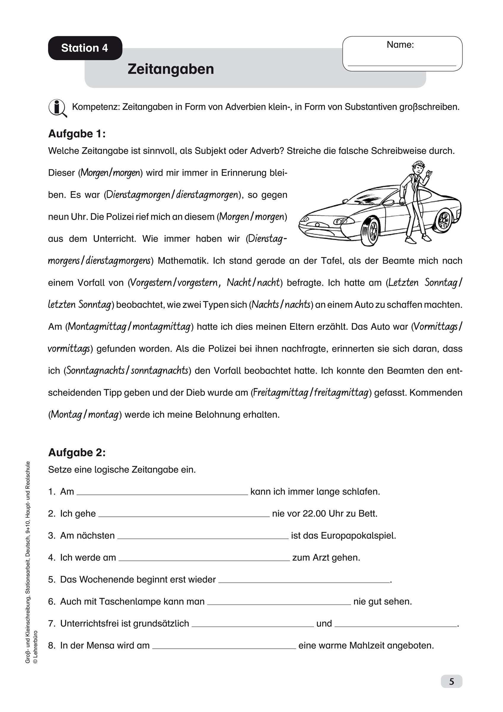Sekundarstufe I Unterrichtsmaterial Deutsch Rechtschreibung verwandt mit Text Groß Und Kleinschreibung 3 Klasse