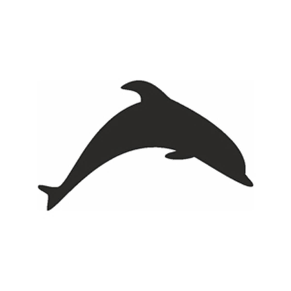 Selbstklebende Schablone Delphin in Delfin Schablone