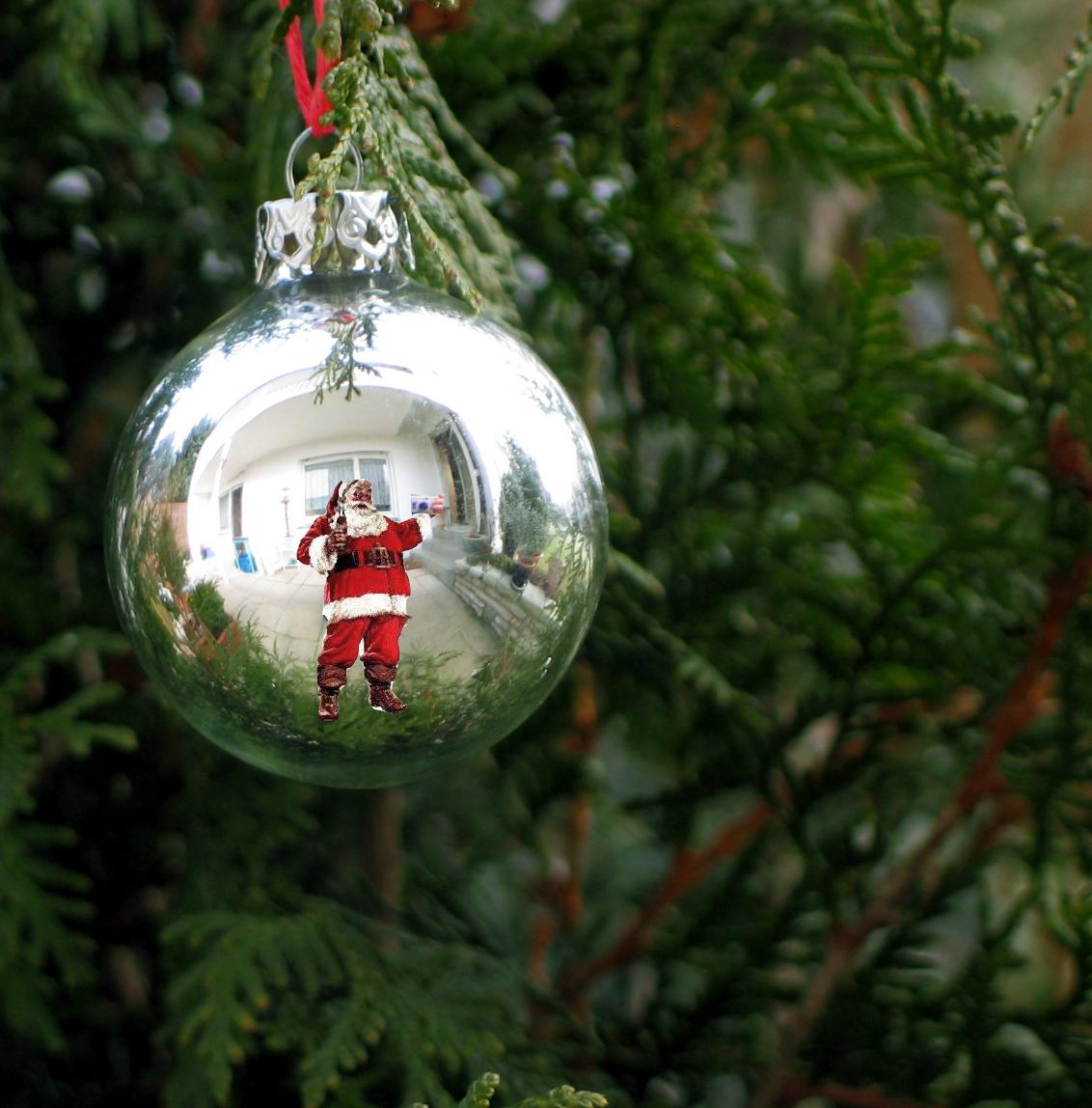 Selbstportrait . Vom Weihnachtsmann ;-) - Gersthofen innen Ursprüngliche Farbe Gewand Weihnachtsmann