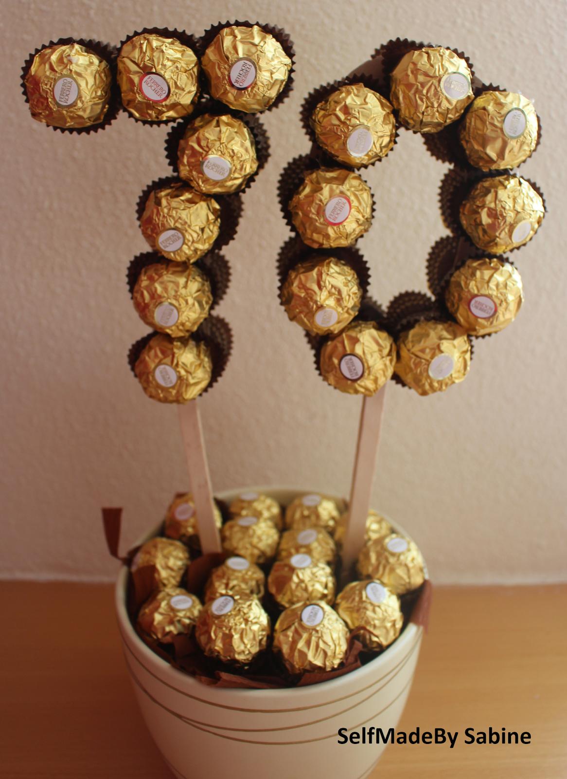 Selfmadeby Sabine: Ferrero Rocher Geburtstagsüberraschung bei Geburtstagsüberraschung Zum 30