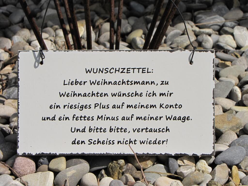 Shabby Chic Holzspruchschild Wunschzettel innen Lustige Wunschzettel Zu Weihnachten