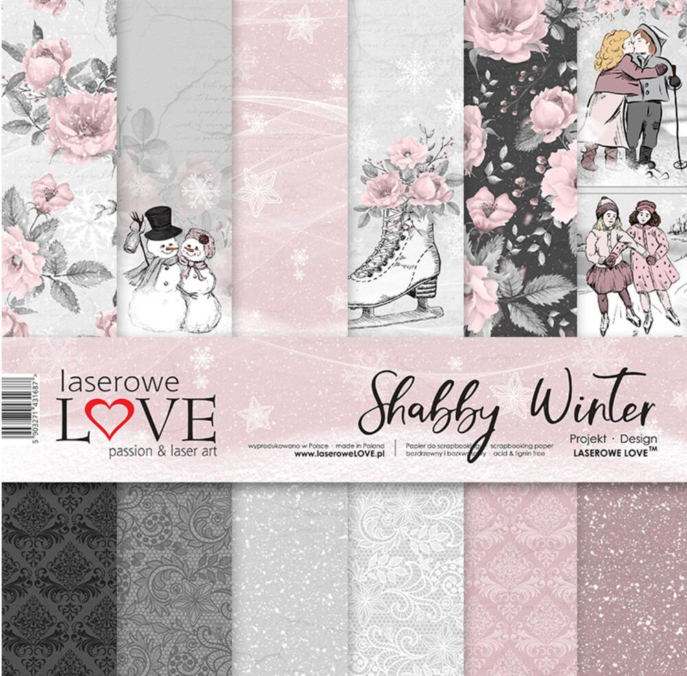 Shabby Winter Scrapbooking Papier Set Bastelpapier 30,5X30,5 verwandt mit Bastelpapier Weihnachten