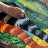 Silk Painting- Moon Rhapsody | Seidenmalerei, Malerei, Seide bestimmt für Seidenmalerei Motive