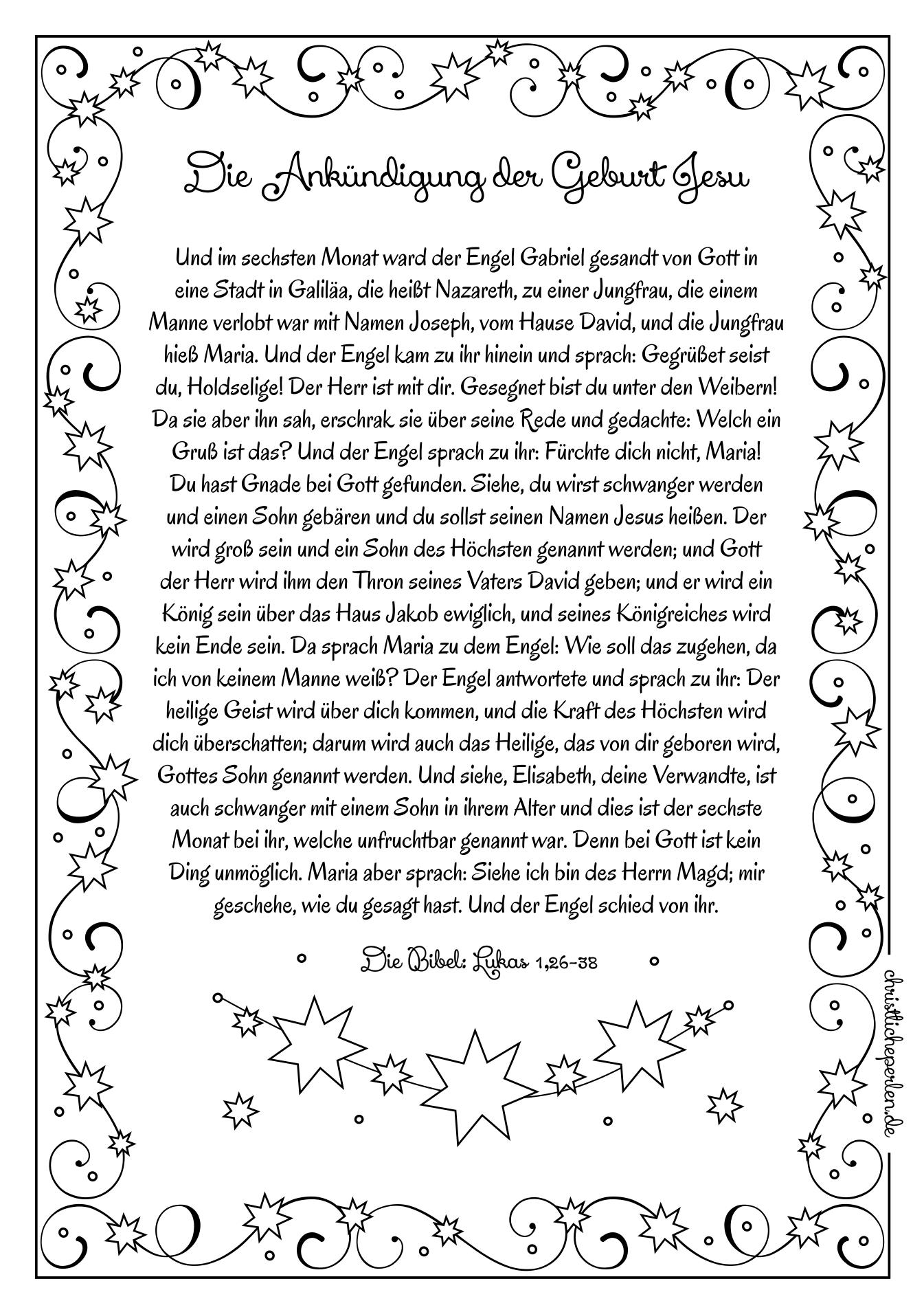 Simeon Und Hanna | Christliche Perlen mit Weihnachtsgeschichte Bibel Für Kindergartenkinder