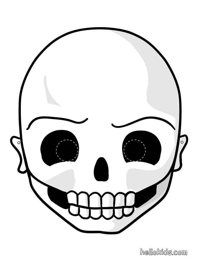 Skelettmaske Für Halloween Bastelanleitungen - De.hellokids mit Halloween Masken Zum Ausdrucken Kostenlos
