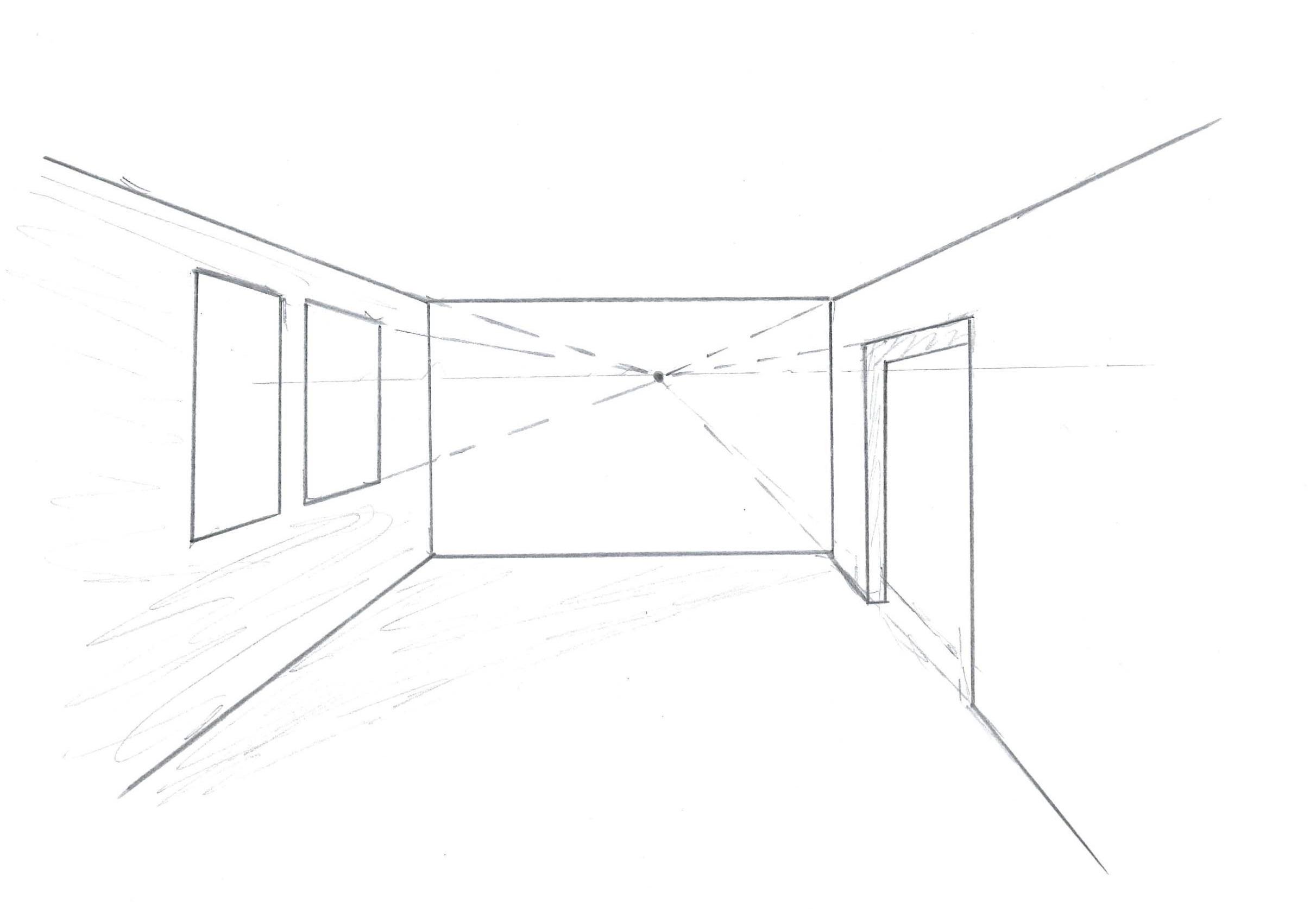 Sketch & Draw, Vorlesung 8; Perspektiven | Anina Gepp ganzes Perspektive Zeichnen Schritt Für Schritt