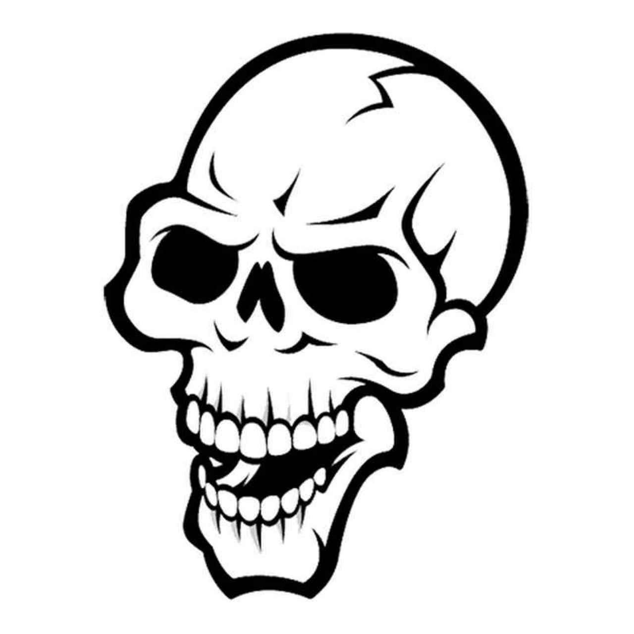 Skull Pv249 Vinyl Decal Sticker | Schablonen, Tribal Tattoos bestimmt für Totenkopf Vorlage