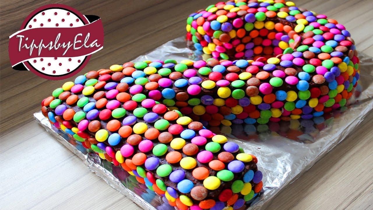 Smarties Torte Als Zahlentorte Selber Machen Anleitung Deutsch verwandt mit Torte Zum 2 Geburtstag
