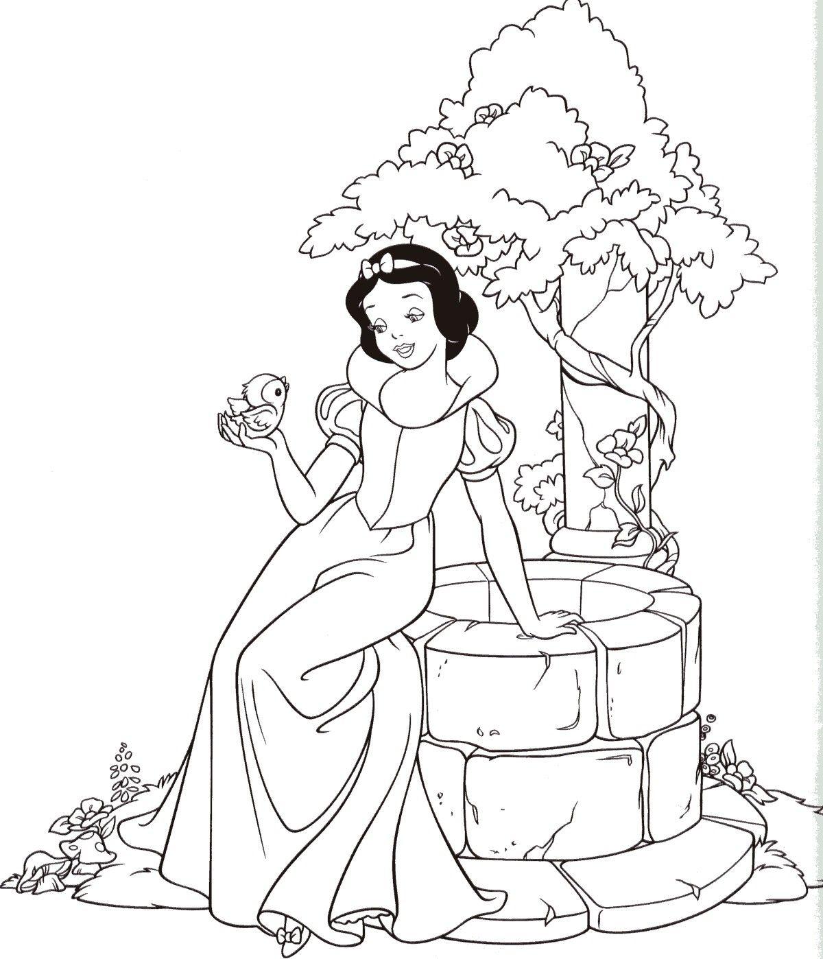 Snow White | Disney Prinzessin Malvorlagen, Malvorlage bei Malvorlage Schneewittchen Und Die 7 Zwerge