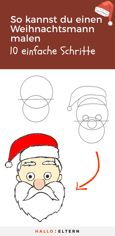 So Kannst Du Ganz Einfach Einen Weihnachtsmann Zeichnen innen Weihnachtsmann Malen