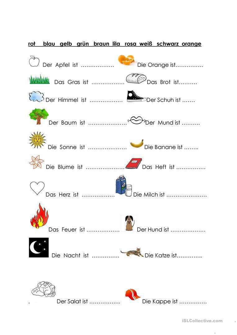 So Viele Farben! (Mit Bildern)   Deutsch Lernen, Lernen über Arbeitsblatt Farben
