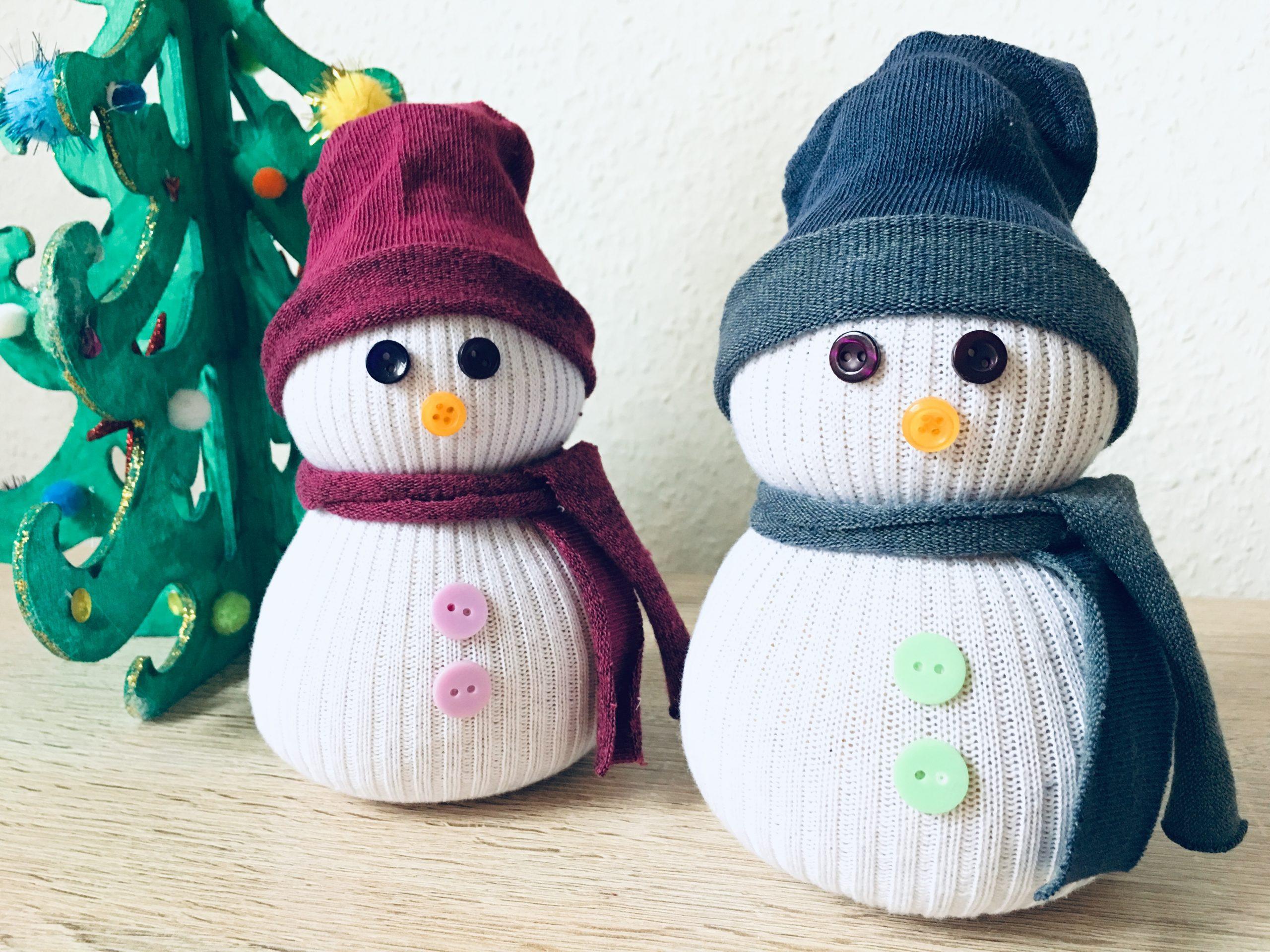 Sockenschneemann Mit Kindern Basteln - Weihnachtsdeko Selber über Weihnachtsdeko Basteln Kinder