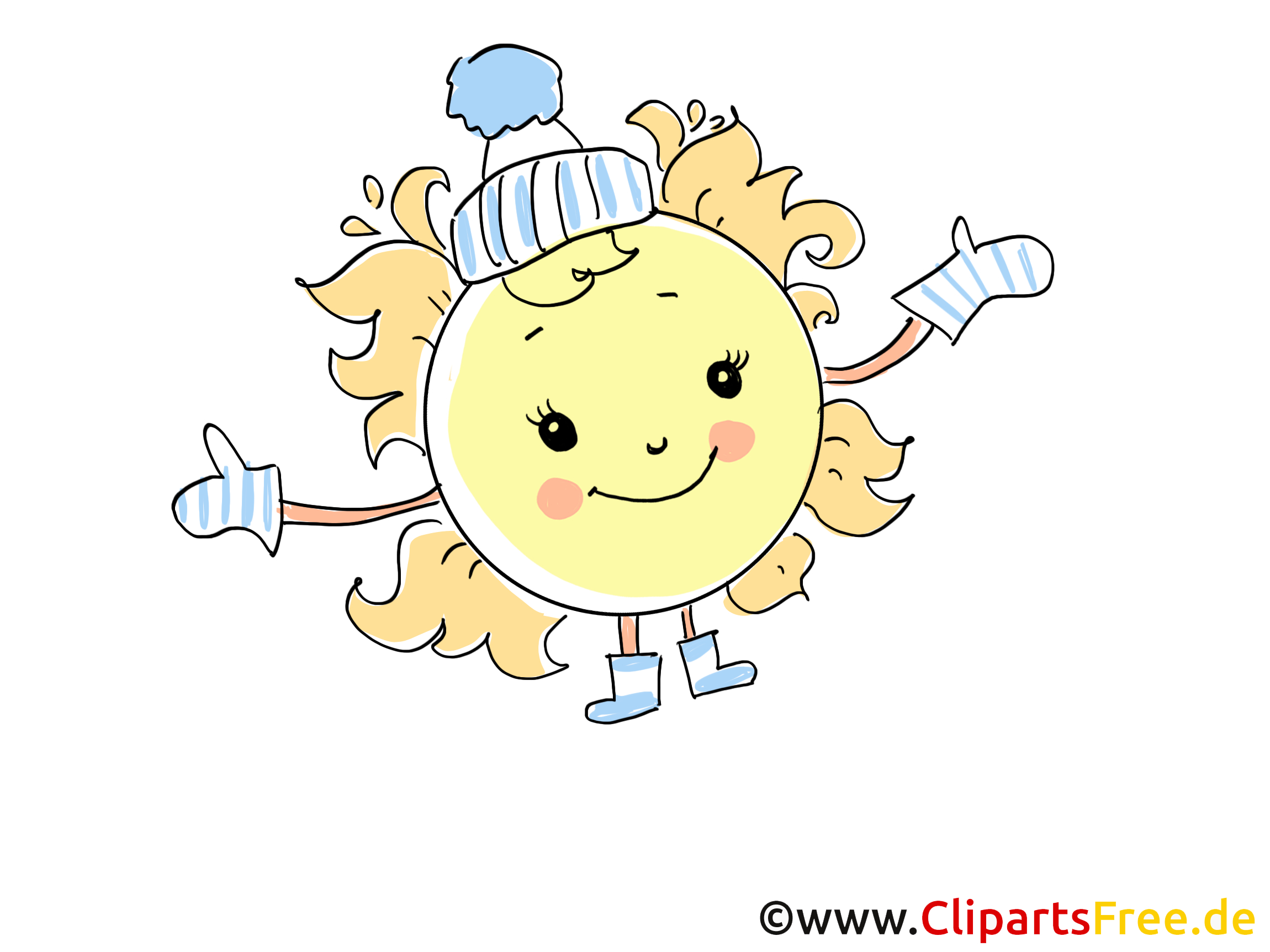 Sonne Im Winter Bild, Illustration, Cartoon, Clipart, Pic Gratis für Cliparts Winter Kostenlos