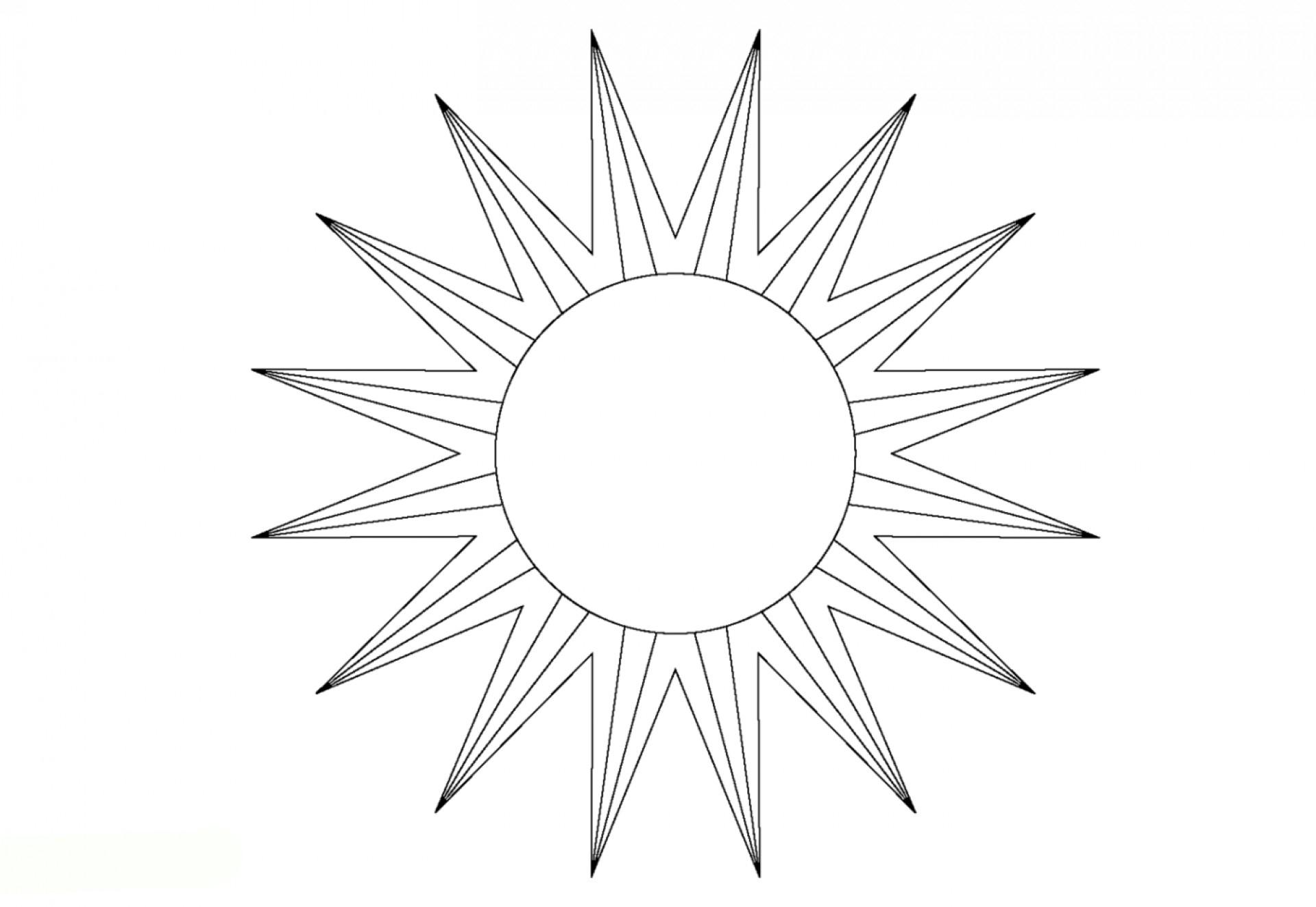 Sonne Vorlage Zum Ausdrucken - 1Ausmalbilder über Bastelvorlage Sonne