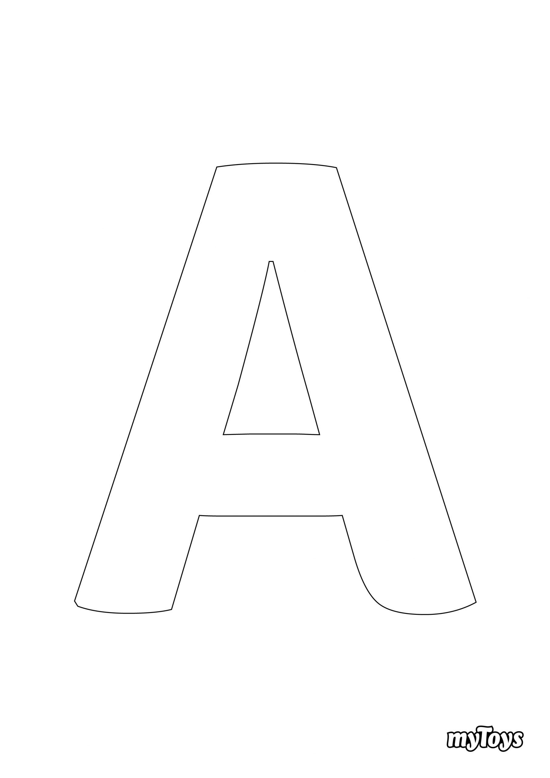 Spielerisch Lernen - Ausmalbilder Buchstaben mit Alphabet Zum Ausmalen