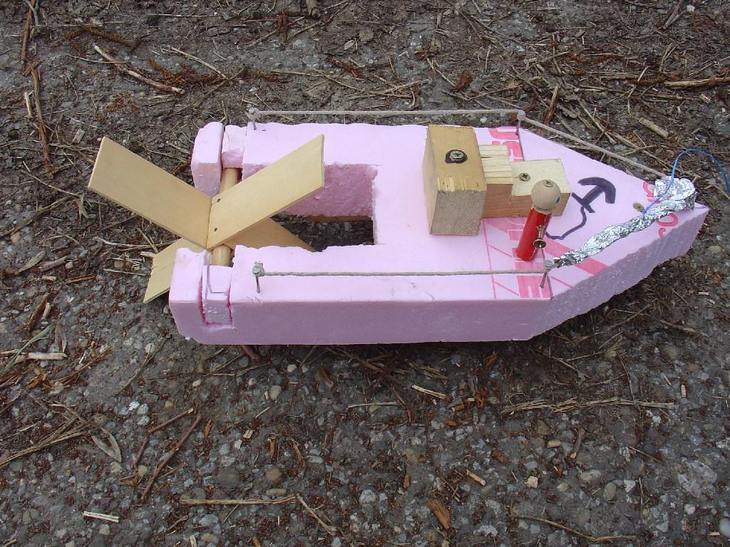 Spielzeug-Schaufelraddampfer für Boot Bauen Mit Kindern