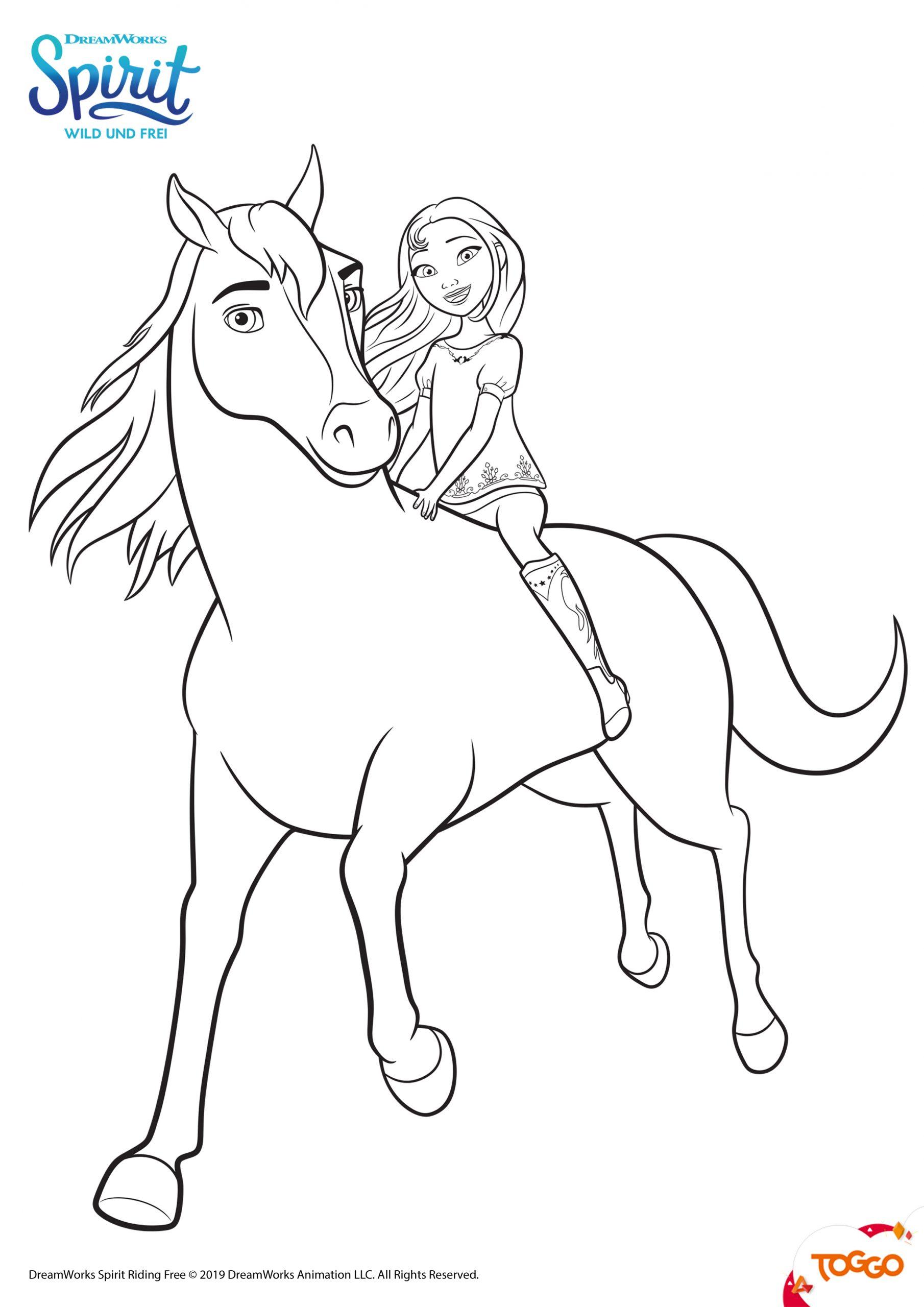 Spirit Ausmalbilder | Mytoys-Blog für Pferde Bilder Zum Ausmalen Und Ausdrucken Kostenlos
