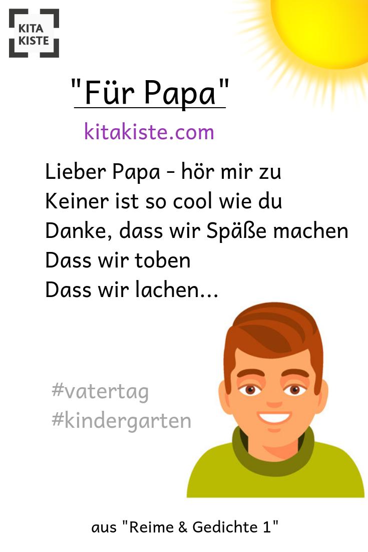 Spruch Zum #vatertag Im #kindergarten - Richtig Cool - Aus über Gedichte Zum Oma Opa Tag Im Kindergarten