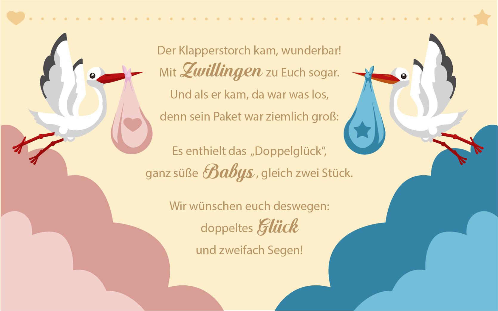 Sprüche Für Kinder: Geburtskarten Von Lustig Bis Romantisch bestimmt für Glückwunschkarten Zur Geburt Zum Ausdrucken