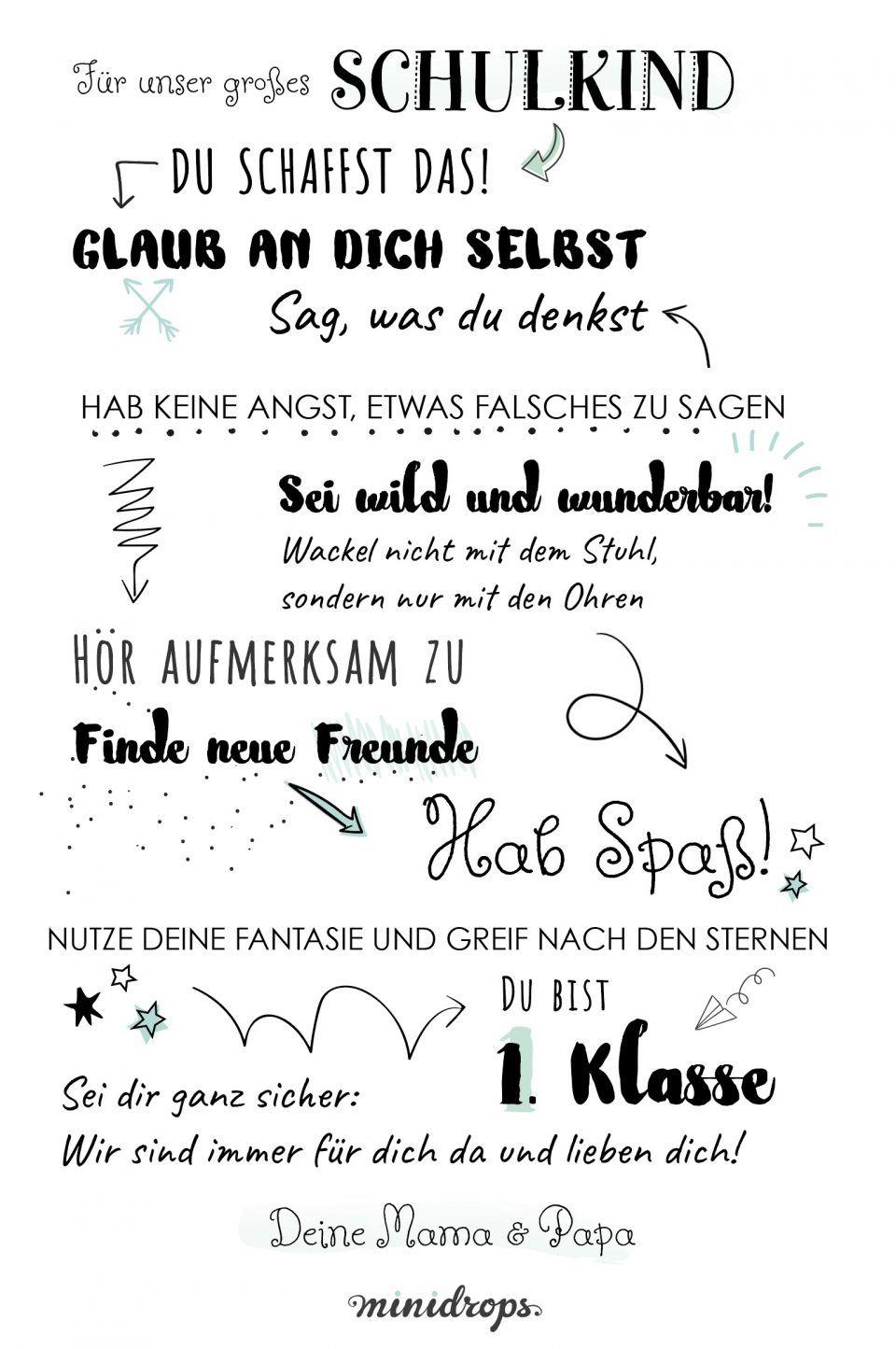 Sprüche Und Zitate Über Familie, Kinder Und Das Leben (Mit bestimmt für Spruch Abschied Kindergarten Schulanfänger