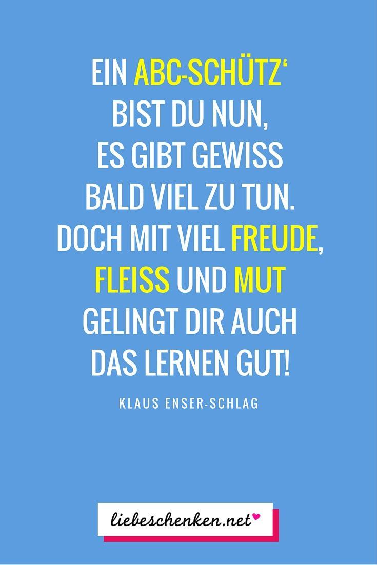 Sprüche Zur Einschulung - Glückwünsche & Gedichte Zum mit ...