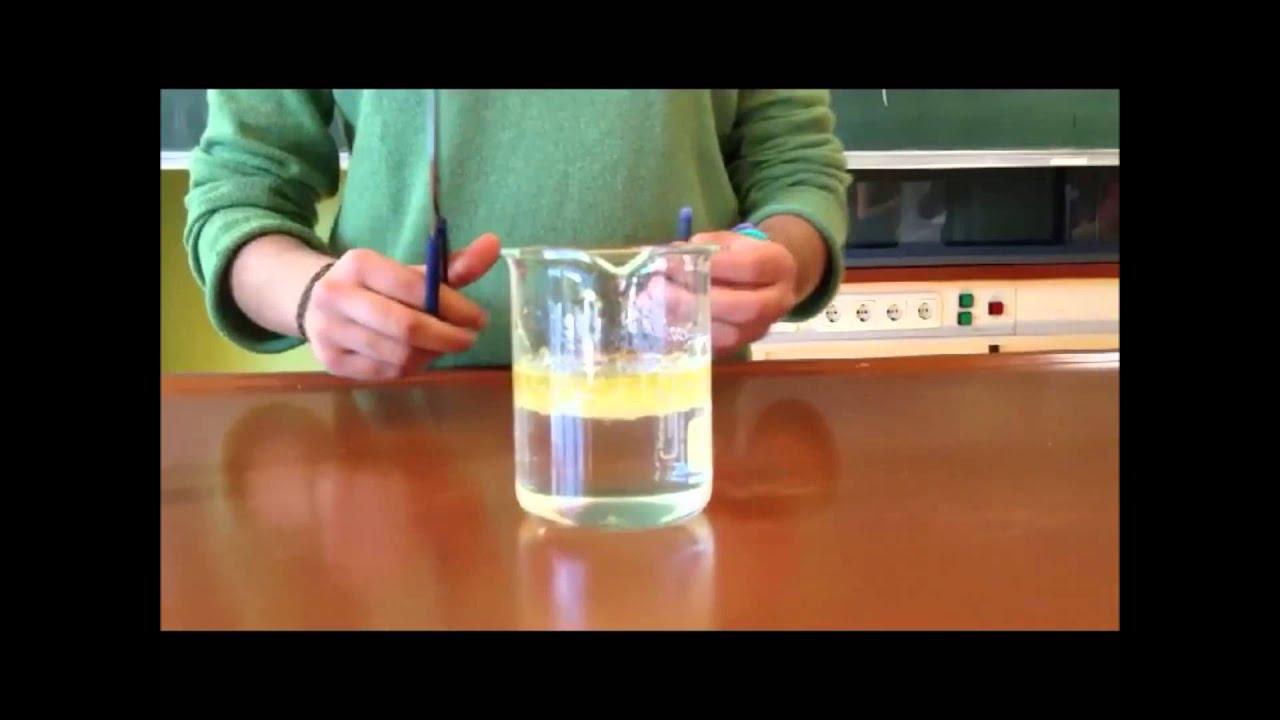 Spürnasenecke - Wasser Öl Tinte bei Experiment Mit Wasser Öl Und Lebensmittelfarbe