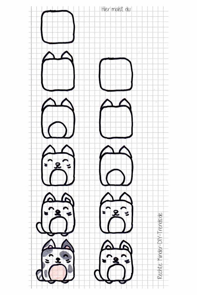 Square Animals Zeichnen In 2020 | Malkurse Für Kinder bei Ganz Einfach Zeichnen Lernen