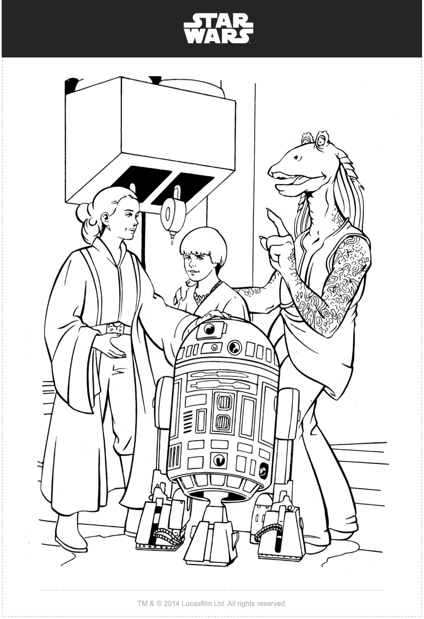 Star Wars Ausmalbilder - Kostenlose Malvorlagen - Mytoys Blog bestimmt für Star Wars Ausmalbilder Gratis