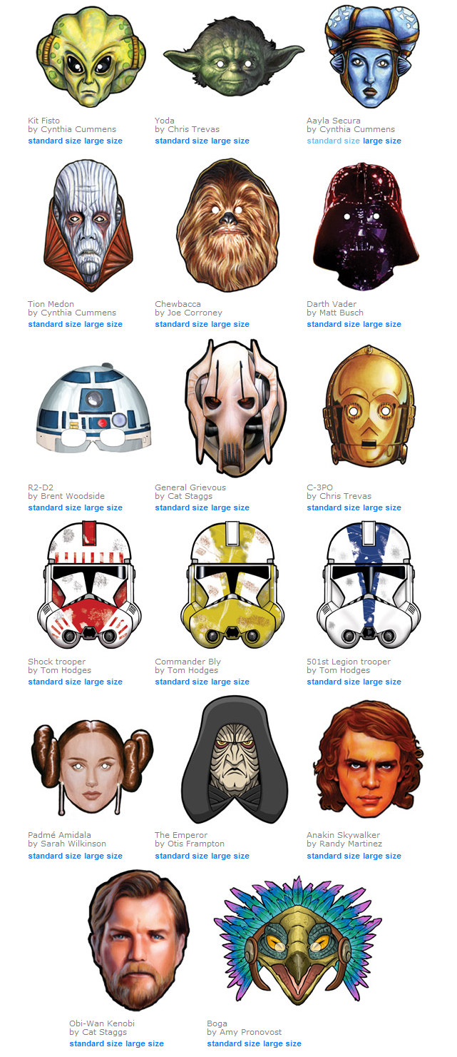Star Wars Masken Zum Kostenlosen Ausdrucken   Freshdads ganzes Star Wars Bilder Zum Drucken