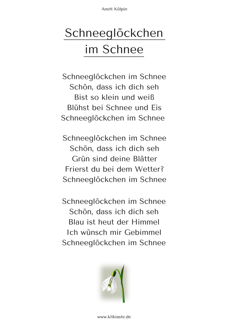 Start - Kita-Kiste, Lieder Für Kita Und Grundschule | Lieder ganzes Gedicht Winter Grundschule