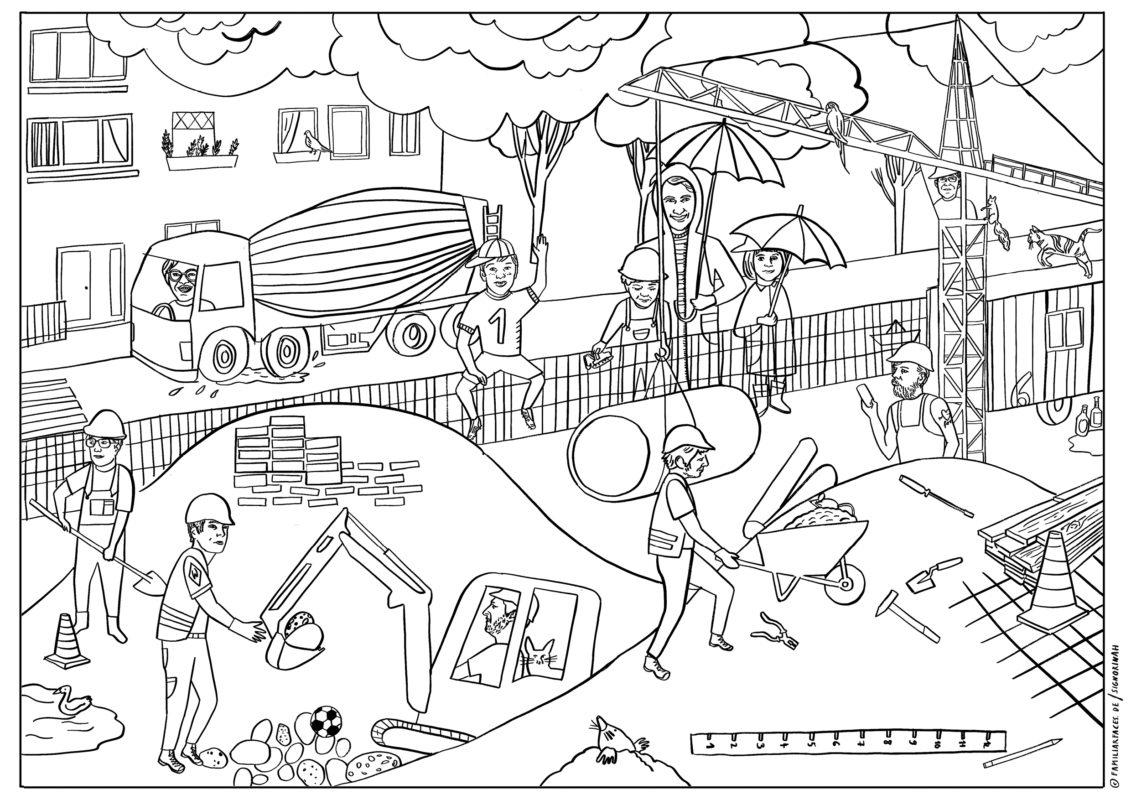 Stayhome – Personalisiertes Kinderbuch Gestalten: Mit Fotos bestimmt für Ausmalbilder Baustelle