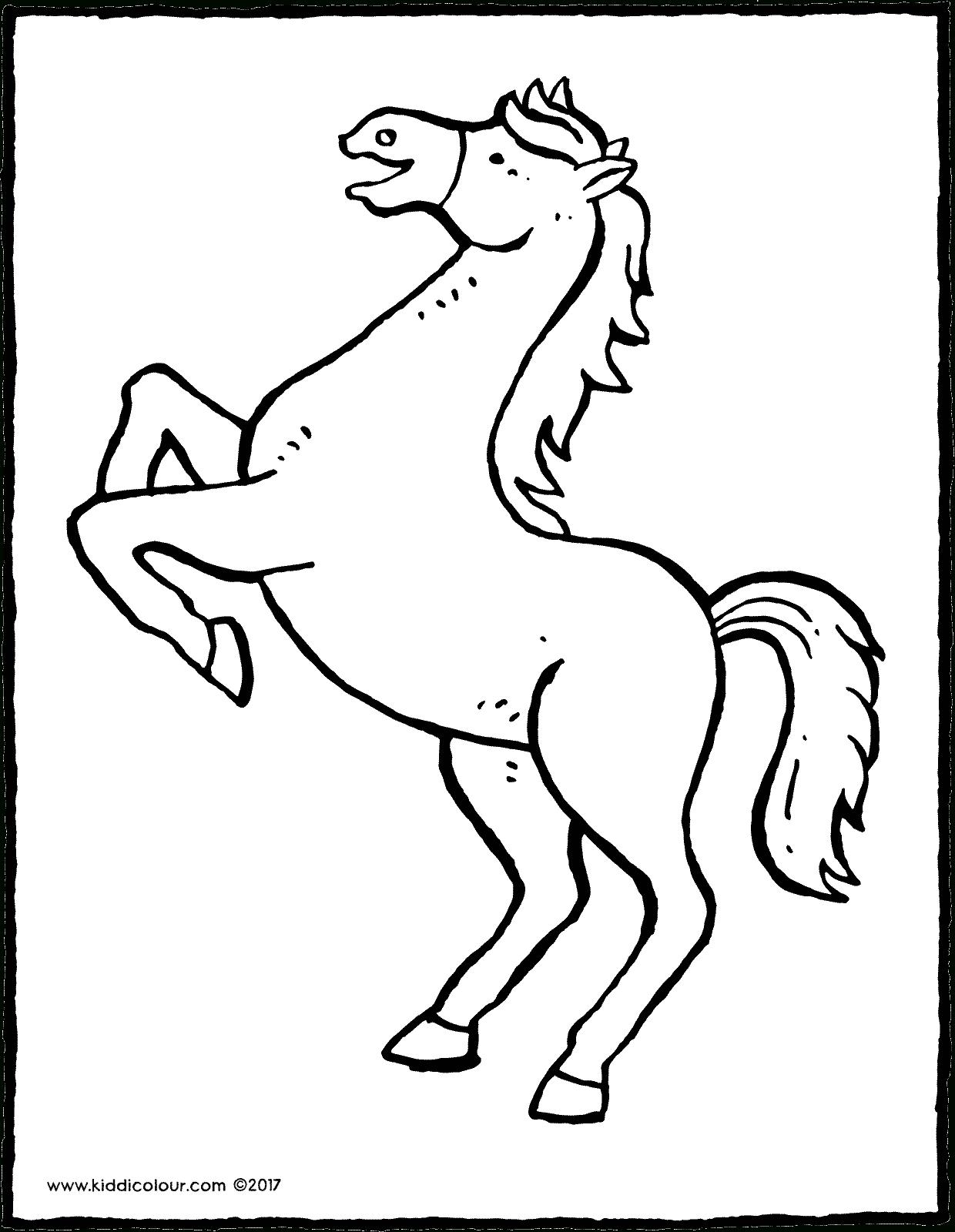 Steigendes Pferd Malvorlage | Coloring And Malvorlagan bestimmt für Steigendes Pferd Zeichnen