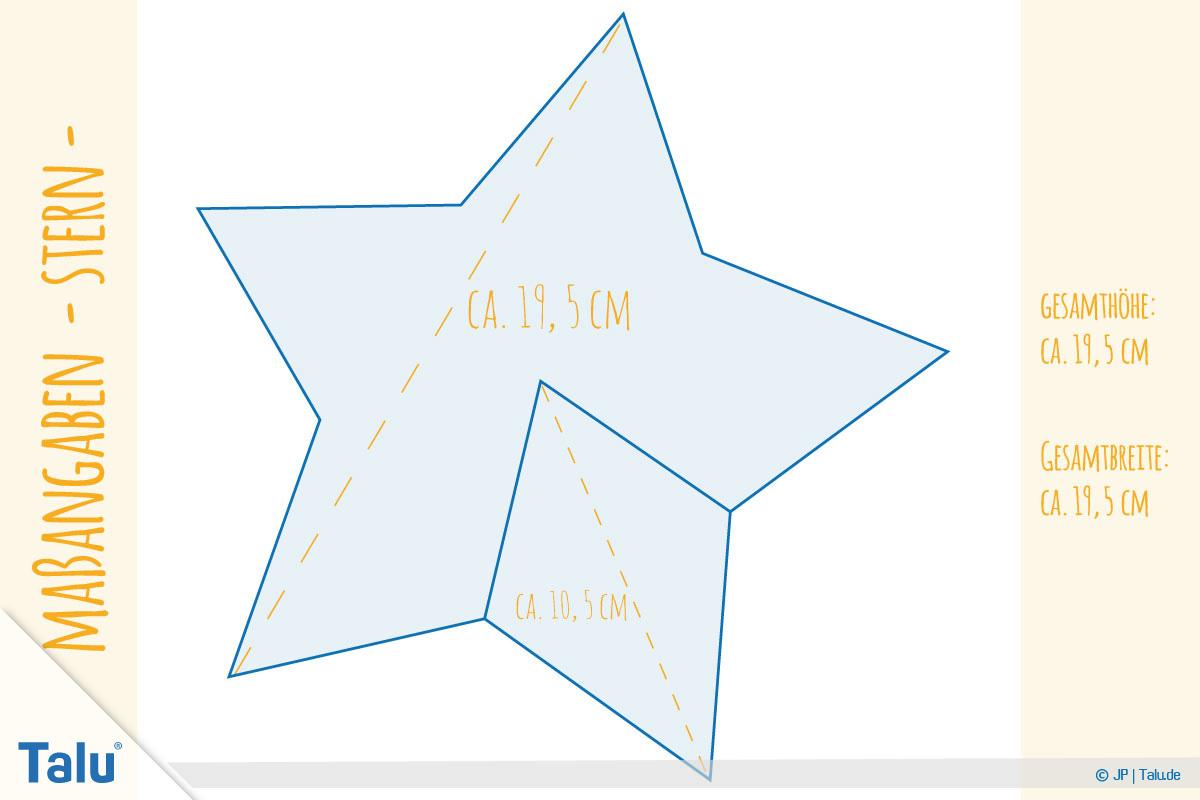 Stern Nähen – Kostenlose Anleitung Mit Vorlage Für für Vorlage Weihnachtsstern