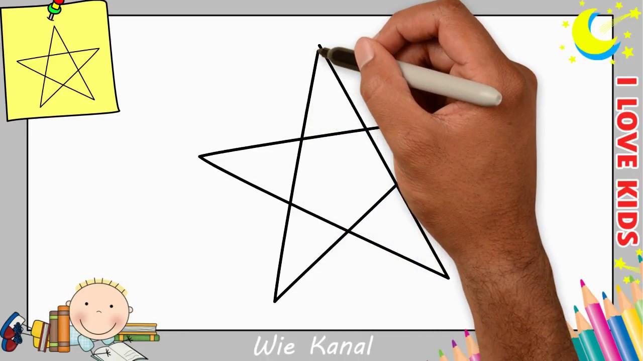 Stern Zeichnen Lernen Einfach Schritt Für Schritt Für Anfänger & Kinder 7 innen Wie Zeichnet Man Einen Stern Mit 5 Spitzen
