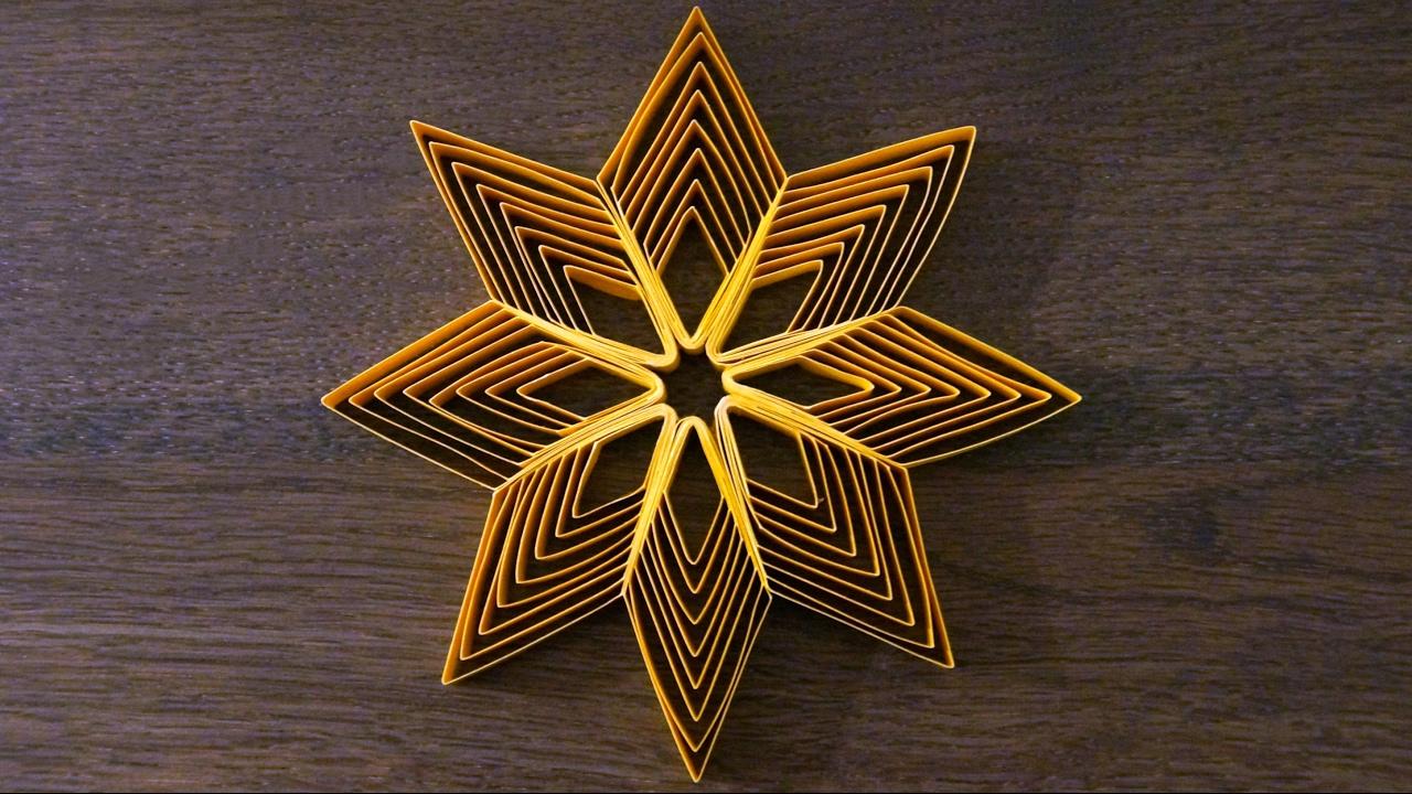 Sterne Aus Papierstreifen Zu Weihnachten Basteln / Diy bestimmt für Weihnachts Sterne Basteln
