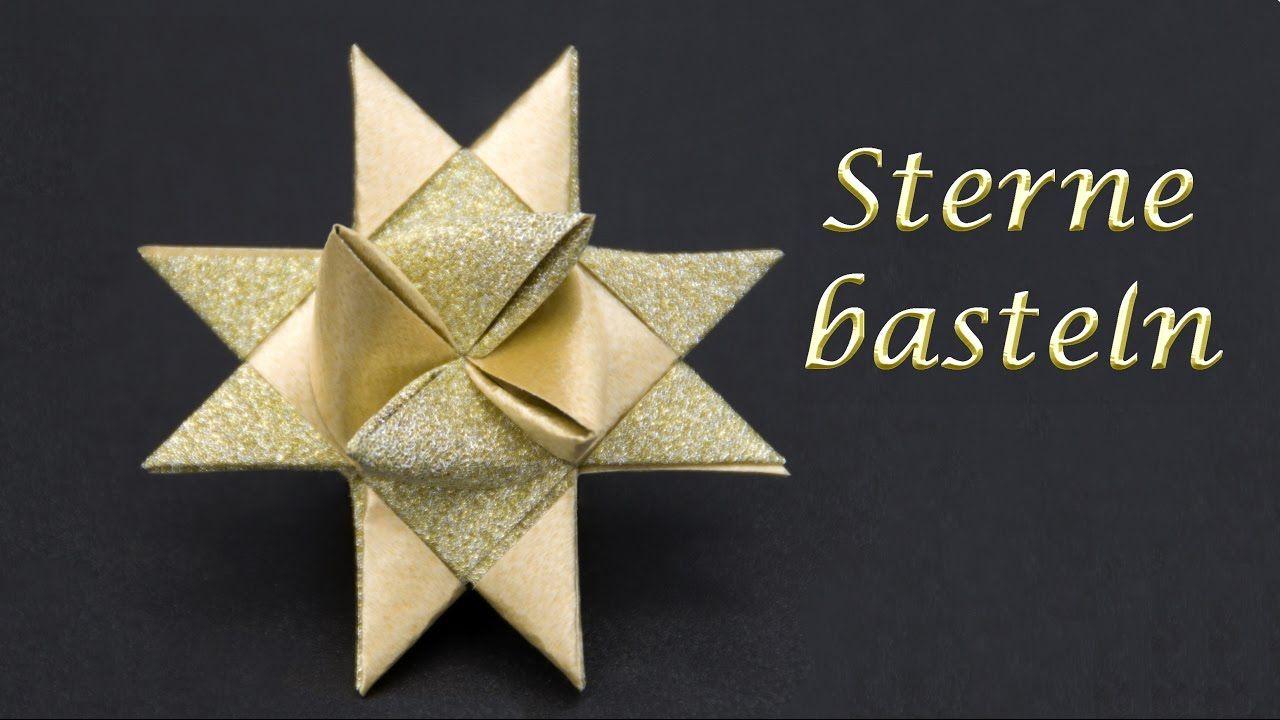 Sterne Basteln Zu Weihnachten: Fröbelsterne Falten bei Sterne Basteln Weihnachten