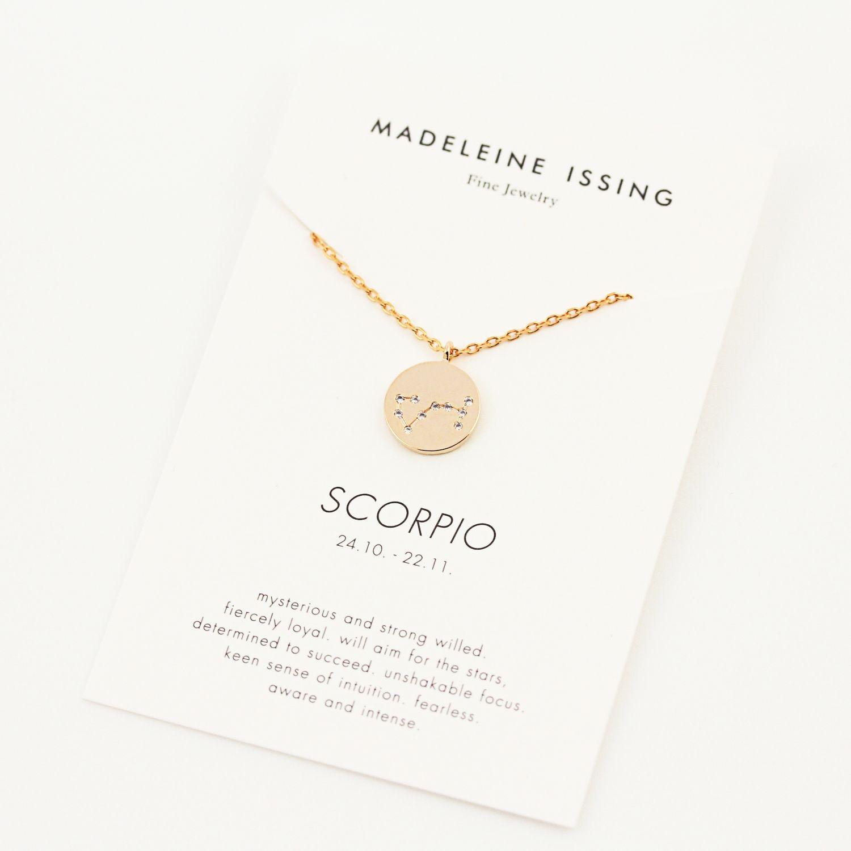 Sternzeichen Kette Skorpion Gold Silber Rosegold (Mit innen Skorpion Sternzeichen Bilder
