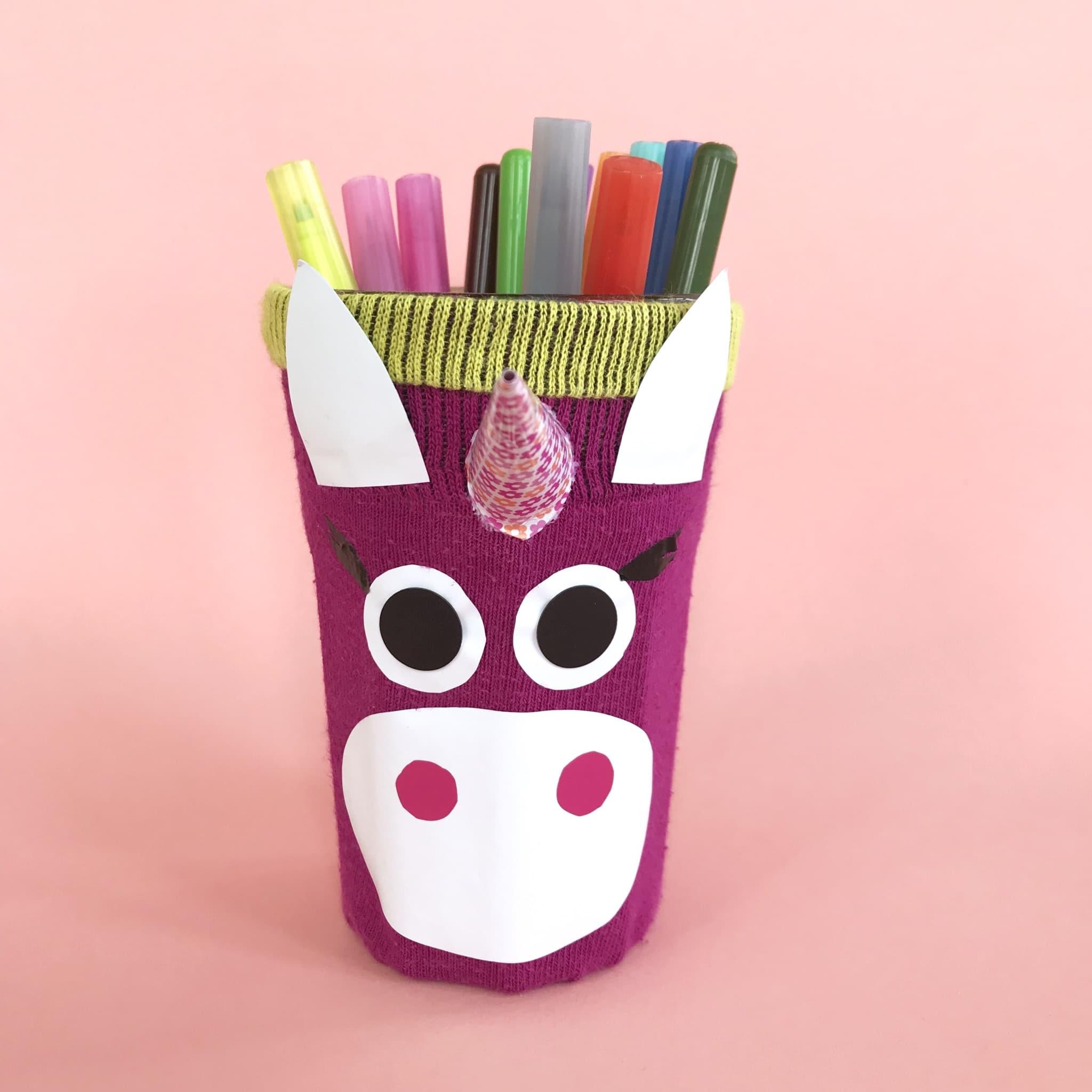 Stiftehalter Basteln: Upcycling Bastelidee Für Den bestimmt für Einfache Bastelideen Zum Kindergeburtstag