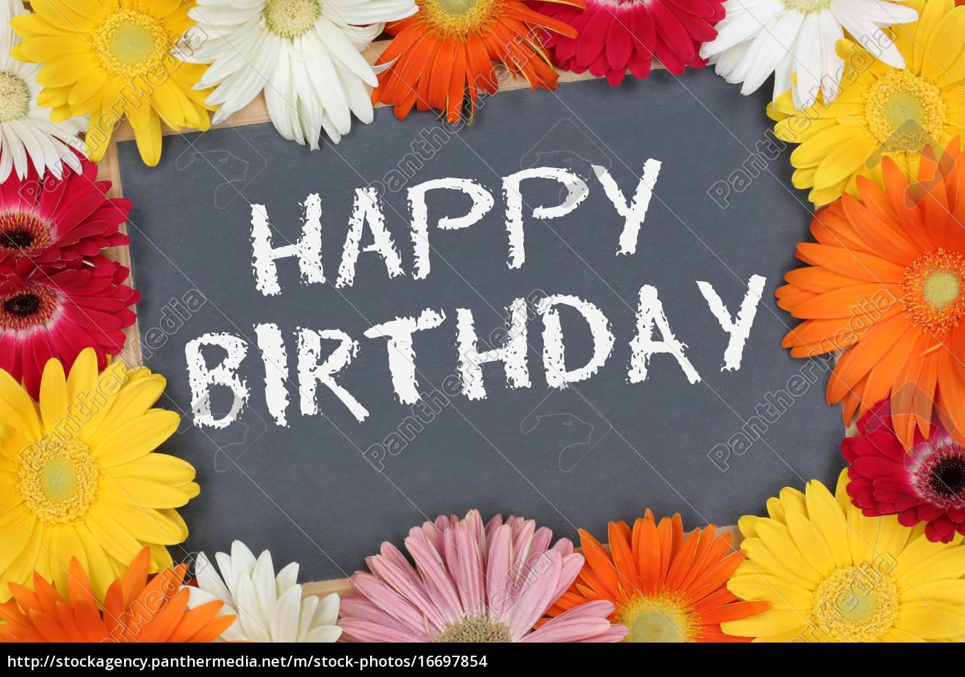 Stock Bild 16697854 - Happy Birthday Geburtstag Karte Geburtstagskarte Mit  Bunten ganzes Geburtstagskarte Geburtstag